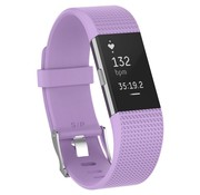 Fitbit Charge 2 siliconen bandje (lichtpaars)