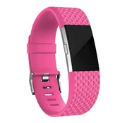 Fitbit Charge 2 diamant silicone band (knalroze)