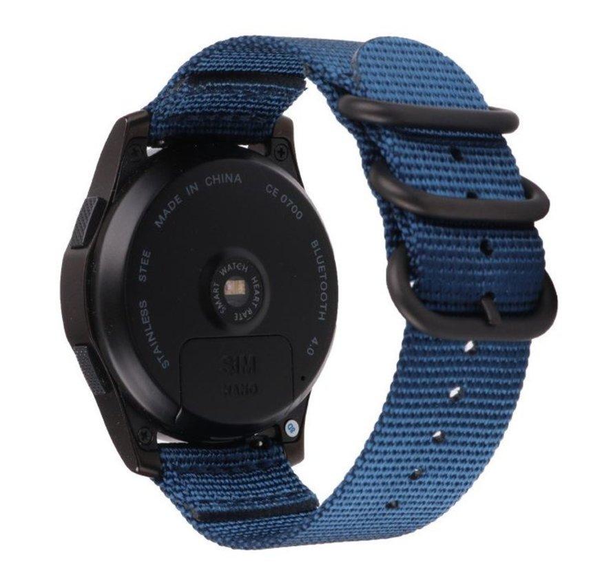 Garmin Vivoactive 3 nylon gesp band (blauw)