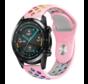 Huawei Watch GT sport bandje (roze kleurrijk)