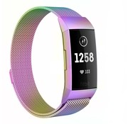 Fitbit Charge 4 Milanese band (regenboog)
