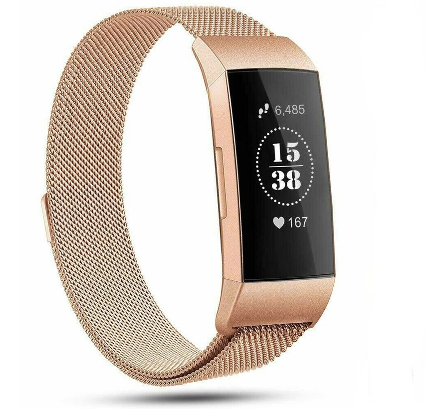 Fitbit Charge 4 Milanese band (rosé goud)