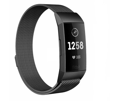 Fitbit Charge 4 Milanese band (zwart)