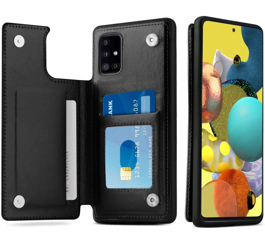 ShieldCase Samsung Galaxy A51 wallet case (zwart)
