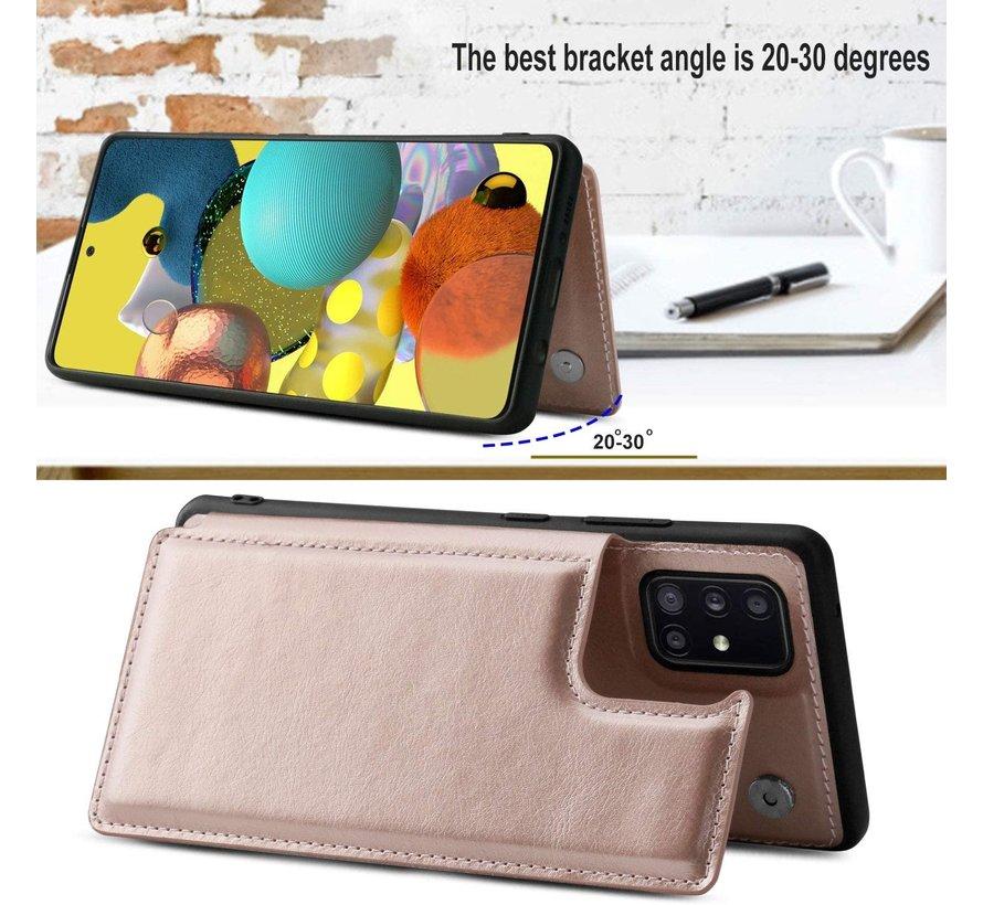 ShieldCase Samsung Galaxy A51 wallet case (roze)