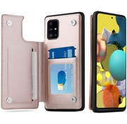 ShieldCase® Samsung Galaxy A51 wallet case (roze)