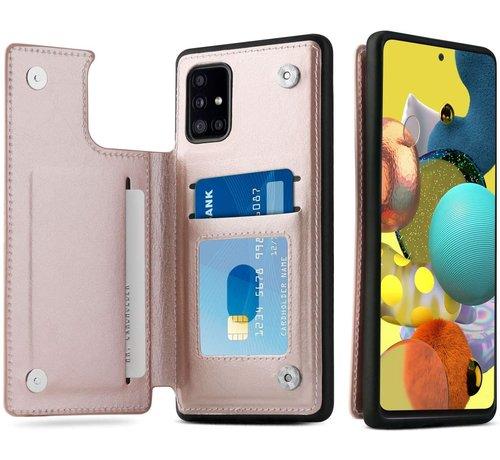 ShieldCase® ShieldCase Samsung Galaxy A51 wallet case (roze)