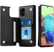 ShieldCase® Samsung Galaxy A71 wallet case (zwart)