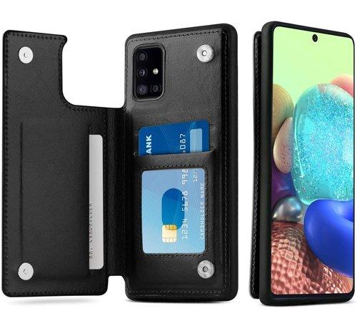 ShieldCase® ShieldCase Samsung Galaxy A71 wallet case (zwart)