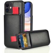ShieldCase® Leren case met pashouder iPhone 11 (zwart)