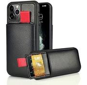 ShieldCase® Leren case met pashouder iPhone 11 Pro (zwart)