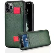 ShieldCase® Leren case met pashouder iPhone 11 Pro (groen)