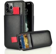 ShieldCase® Leren case met pashouder iPhone 11 Pro Max (zwart)