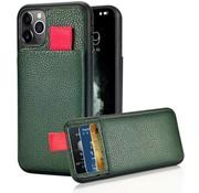 ShieldCase® Leren case met pashouder iPhone 11 Pro Max (groen)