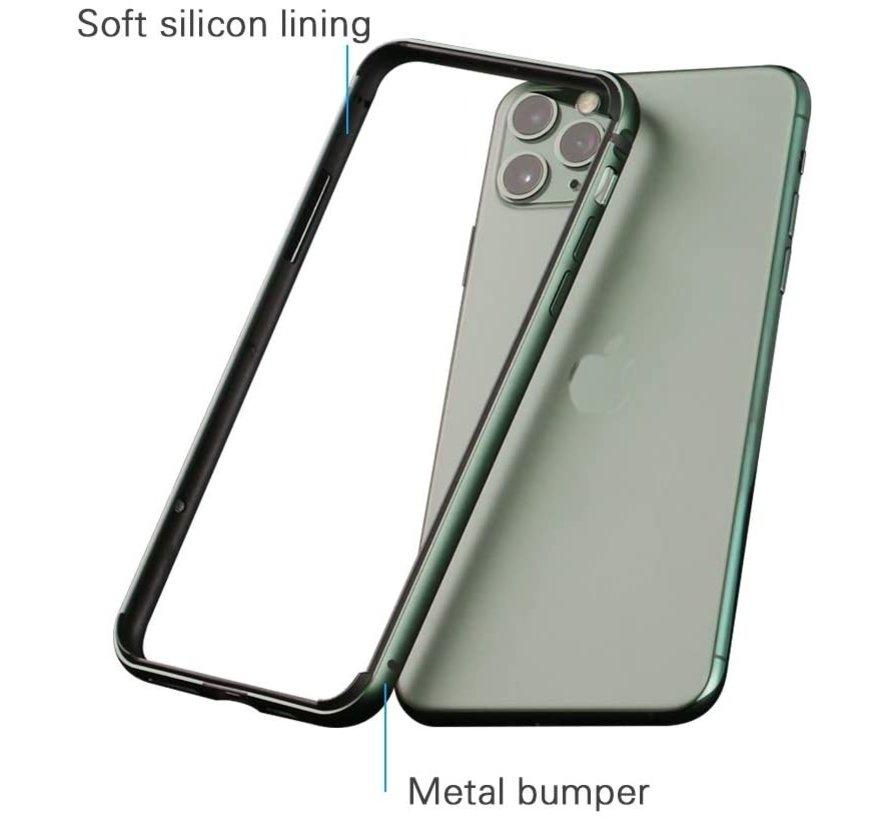 ShieldCase iPhone 11 Pro Max metalen bumper case (groen)
