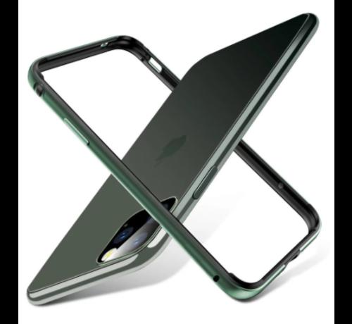 ShieldCase® ShieldCase iPhone 11 Pro metalen bumper case (groen)