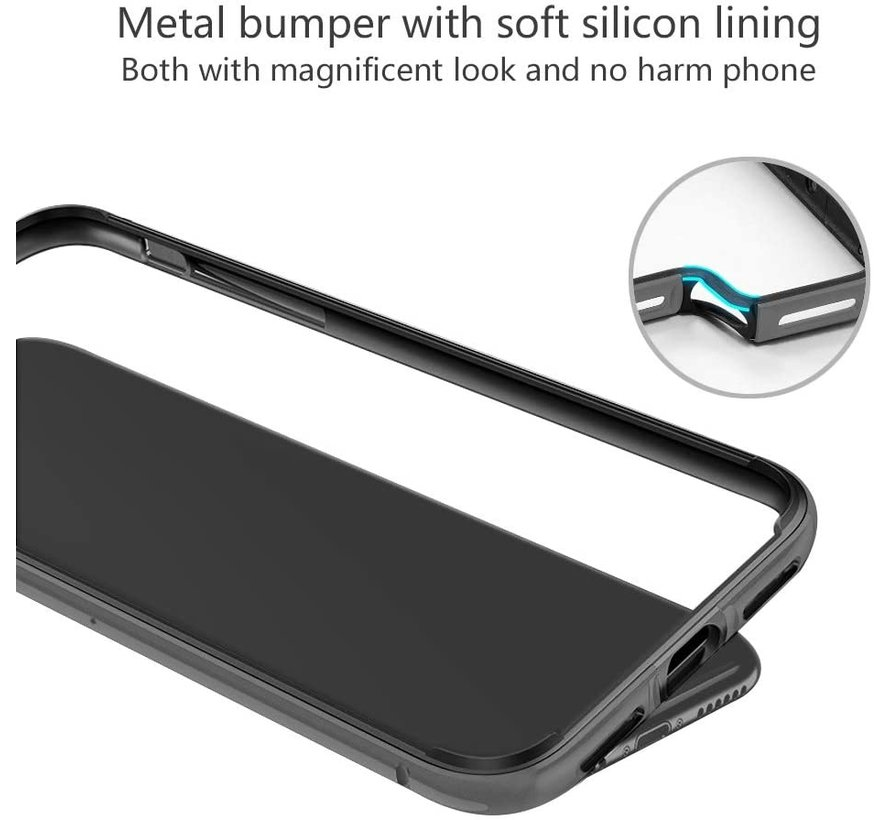 ShieldCase iPhone 11 Pro Max metalen bumper case (zwart)