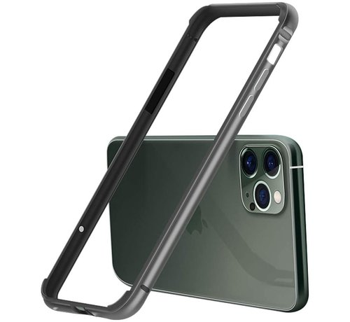 ShieldCase® ShieldCase iPhone 11 Pro Max metalen bumper case (zwart)