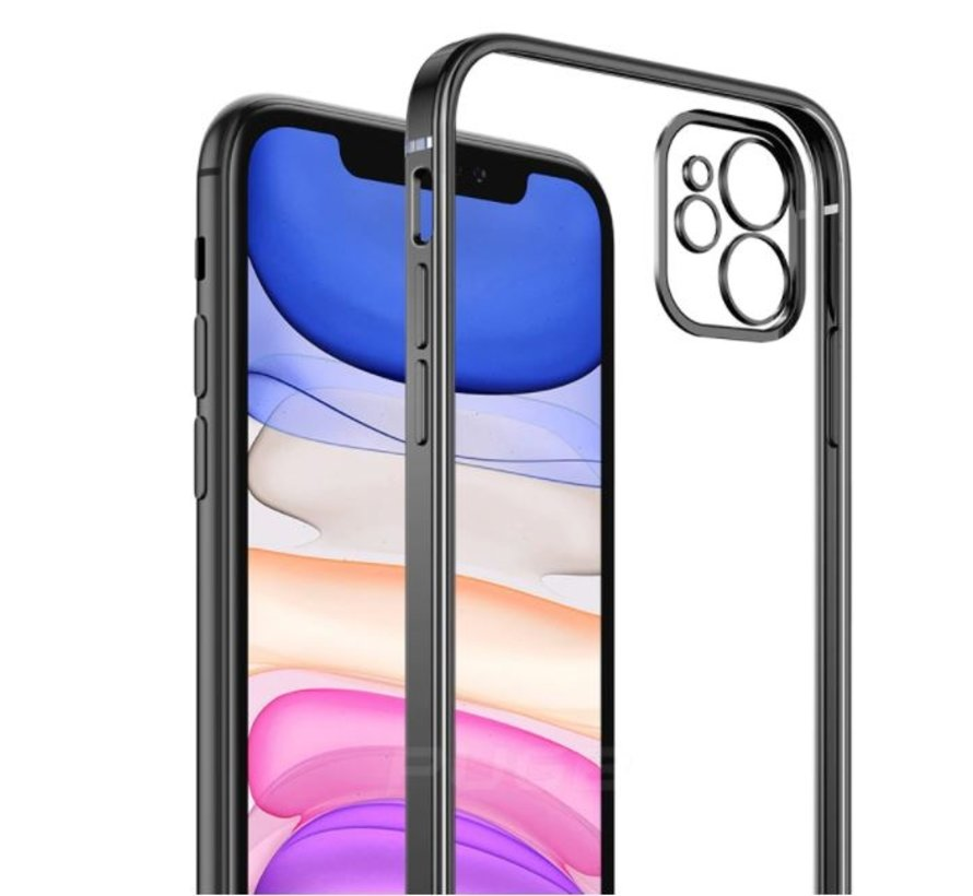 ShieldCase iPhone 11 vierkante metallic case (zwart)