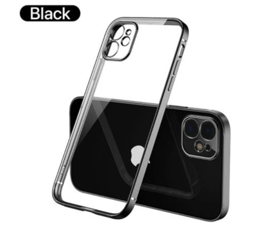 ShieldCase® ShieldCase iPhone 11 vierkante metallic case (zwart)