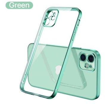 ShieldCase® iPhone 11 vierkante metallic case (lichtgroen)