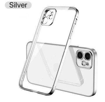 ShieldCase® iPhone 11 vierkante metallic case (zilver)
