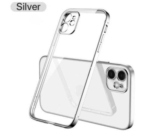 ShieldCase® ShieldCase iPhone 11 vierkante metallic case (zilver)