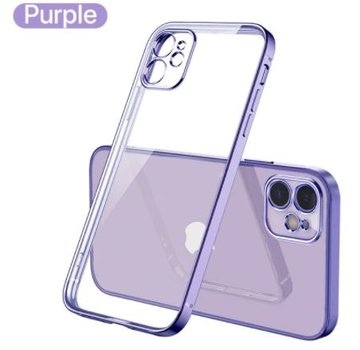 ShieldCase® iPhone 11 vierkante metallic case (paars)