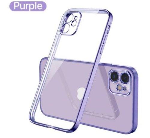 ShieldCase® ShieldCase iPhone 11 vierkante metallic case (paars)