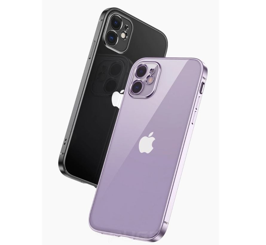 ShieldCase iPhone 11 vierkante metallic case (paars)