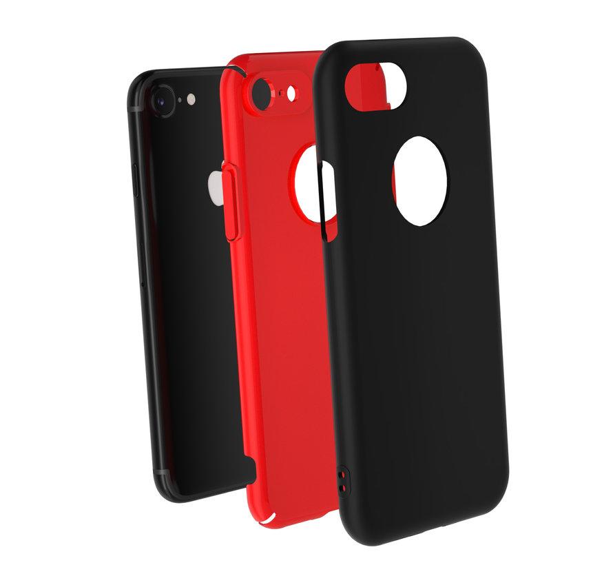 ShieldCase dubbellaags siliconen hoesje iPhone 7 / 8 (zwart-rood)