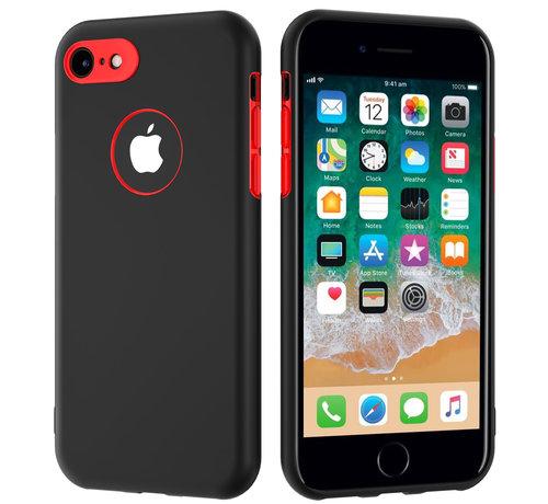ShieldCase® ShieldCase dubbellaags siliconen hoesje iPhone 7 / 8 (zwart-rood)