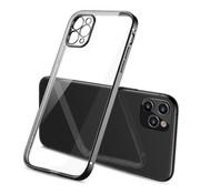 ShieldCase® iPhone 11 Pro Max vierkante metallic case (zwart)