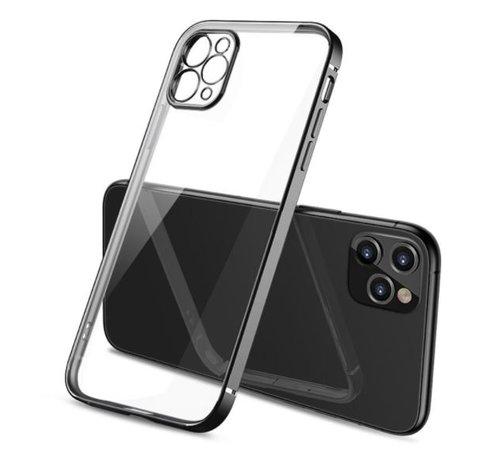 ShieldCase® ShieldCase iPhone 11 Pro Max vierkante metallic case (zwart)