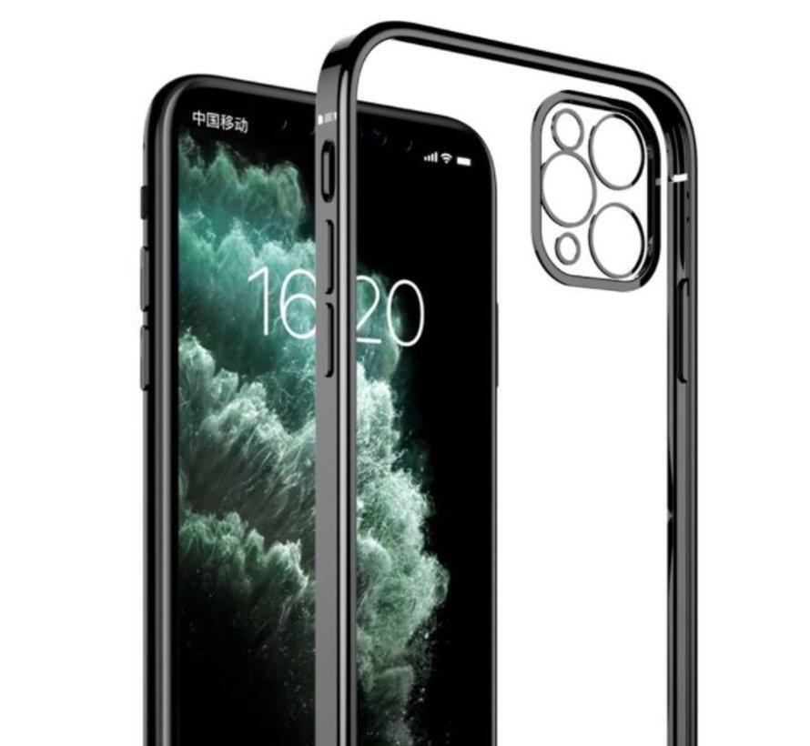 ShieldCase iPhone 11 Pro Max vierkante metallic case (zwart)
