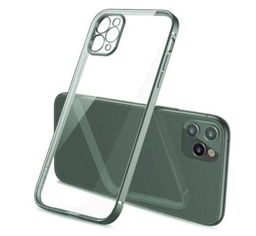 ShieldCase® ShieldCase iPhone 11 Pro Max vierkante metallic case (donkergroen)