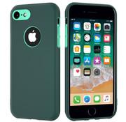 ShieldCase® Dubbellaags siliconen hoesje iPhone 7 / 8 (groen-aqua)