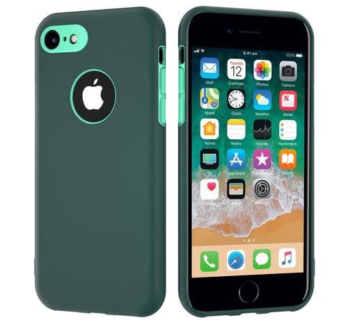 ShieldCase® ShieldCase dubbellaags siliconen hoesje iPhone 7 / 8 (groen-aqua)