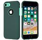 ShieldCase dubbellaags siliconen hoesje iPhone 7 / 8 (groen-aqua)