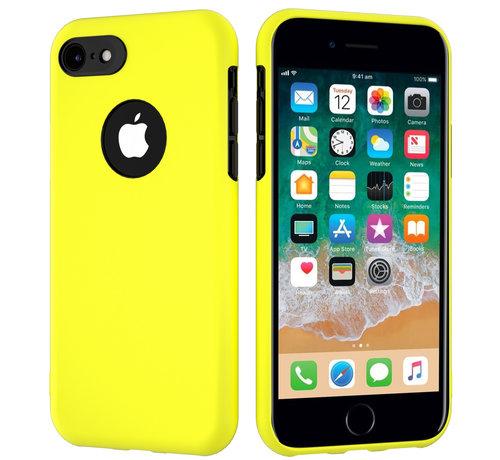 ShieldCase® ShieldCase dubbellaags siliconen hoesje iPhone 7 / 8 (geel-zwart)