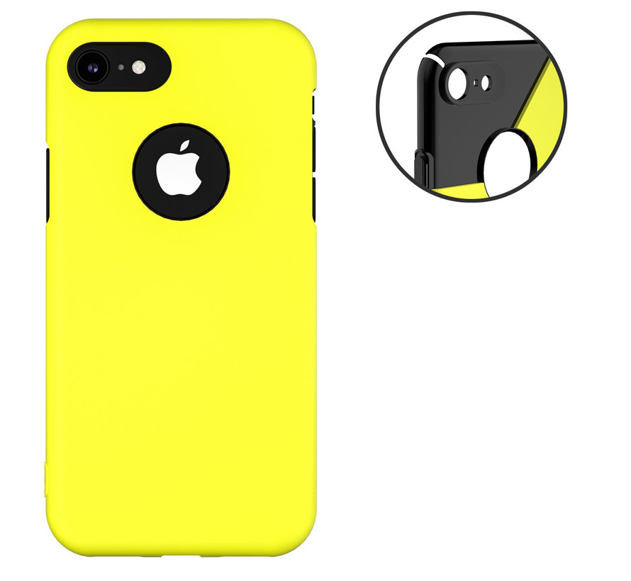ShieldCase dubbellaags siliconen hoesje iPhone 7 / 8 (geel-zwart)