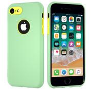 ShieldCase® Dubbellaags siliconen hoesje iPhone 7 / 8 (lichtgroen-geel)