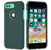 ShieldCase® Dubbellaags siliconen hoesje iPhone 8 Plus / 7 Plus (groen-aqua)