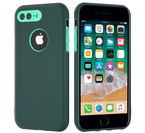 ShieldCase® ShieldCase dubbellaags siliconen hoesje iPhone 8 Plus / 7 Plus (groen-aqua)