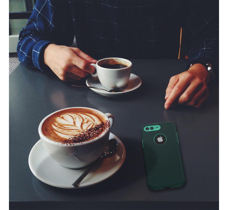 ShieldCase dubbellaags siliconen hoesje iPhone 8 Plus / 7 Plus (groen-aqua)