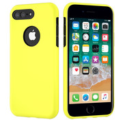 ShieldCase® Dubbellaags siliconen hoesje iPhone 8 Plus / 7 Plus (geel-zwart)