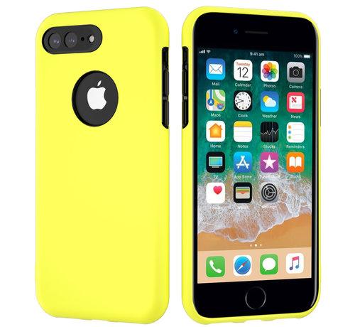 ShieldCase® ShieldCase dubbellaags siliconen hoesje iPhone 8 Plus / 7 Plus (geel-zwart)