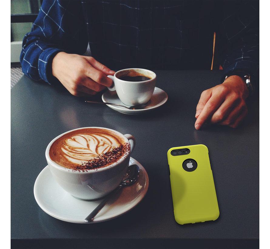 ShieldCase dubbellaags siliconen hoesje iPhone 8 Plus / 7 Plus (geel-zwart)