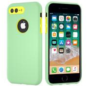 ShieldCase® Dubbellaags siliconen hoesje iPhone 8 Plus / 7 Plus (Lichtgroen-geel)