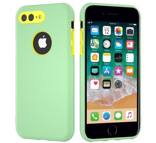 ShieldCase® ShieldCase dubbellaags siliconen hoesje iPhone 8 Plus / 7 Plus (Lichtgroen-geel)